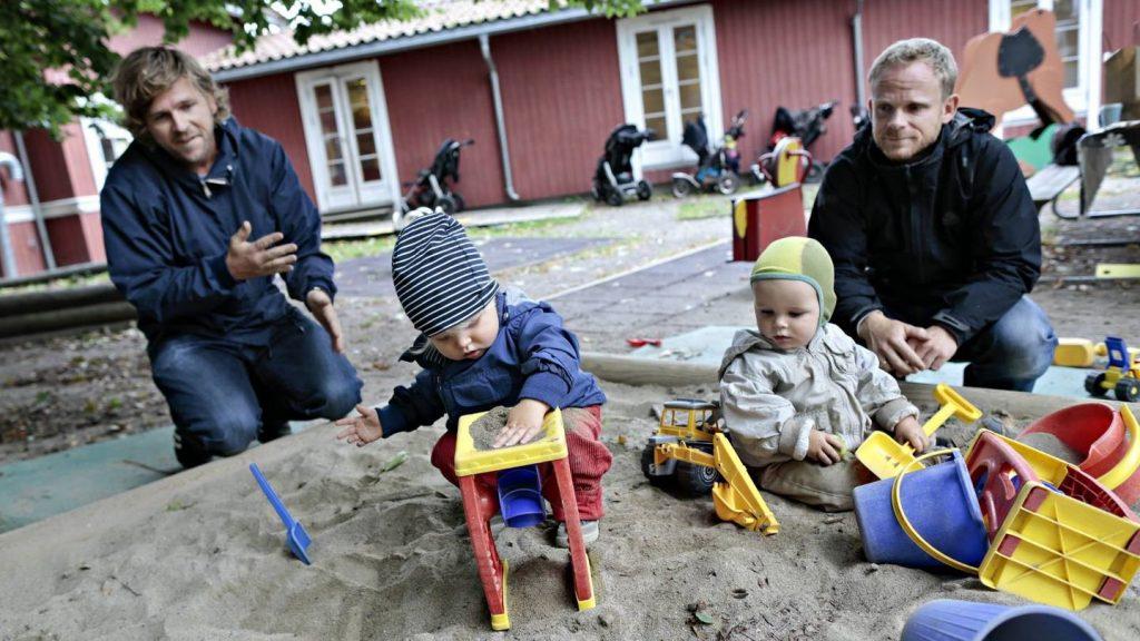 Apaszabadságon lévő apák Oslóban. Forrás: aftenposten.no